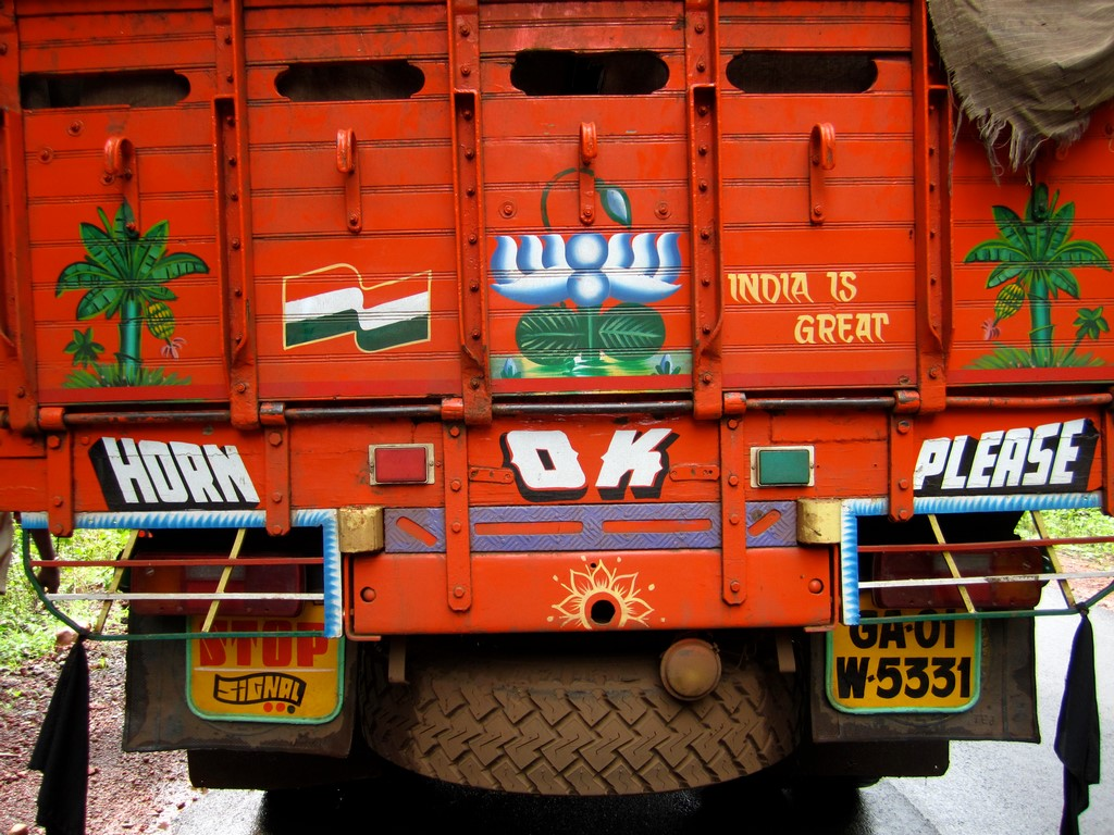 India Truck Rear Sign