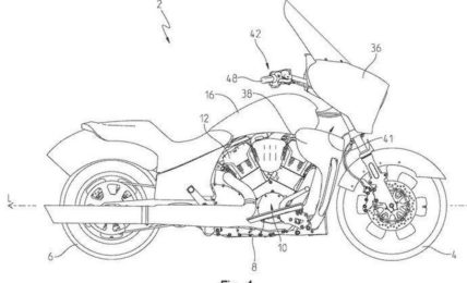 Indian Liquid Cooled Tourer Patent Side