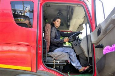 Indian Woman Trucker Sets An Example, Breaks Stereotypes