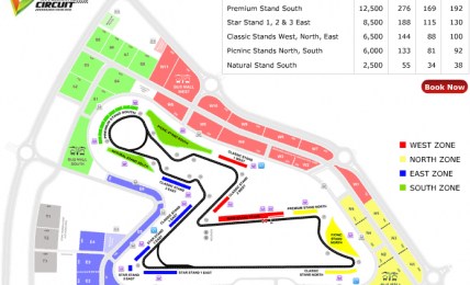 Indian F1 GP Stands