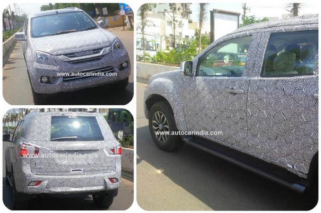 Isuzu MU-X Spied In India