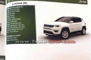 Jeep Compass Brochure Leaked