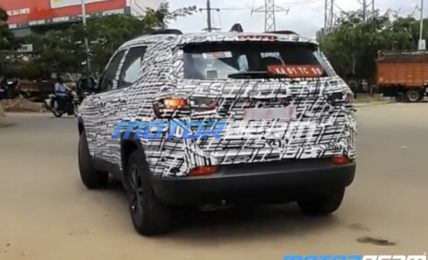 Jeep Compass Facelift Spotted Rear