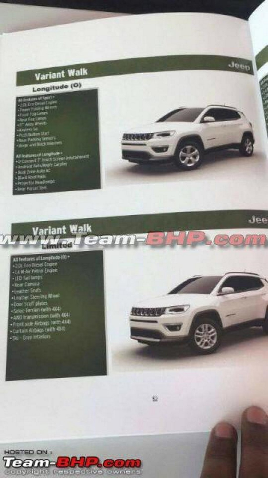 Jeep Compass Gets 5 Variants
