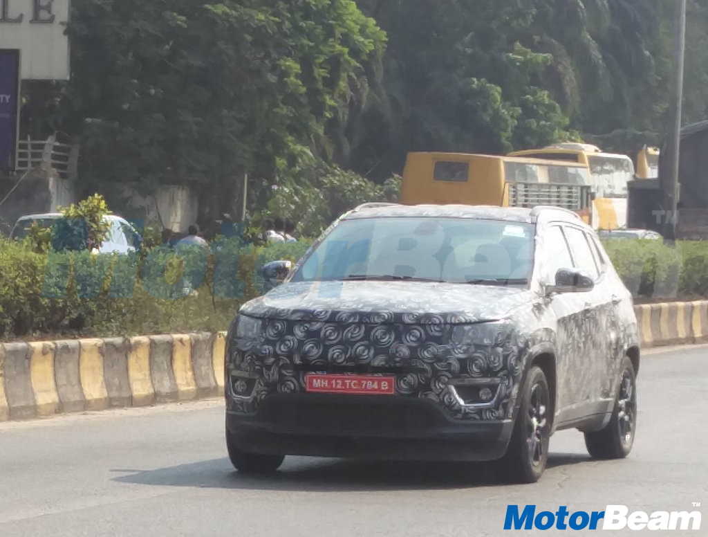 Jeep Compass India Spyshot Front