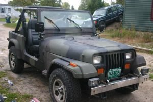 Jeep Forest Camouflage Paint Job