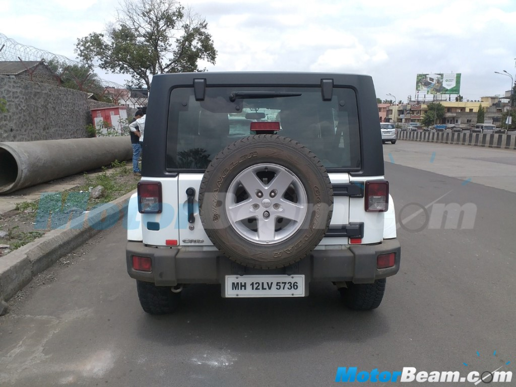 Jeep Wrangler Unlimited India Spotting