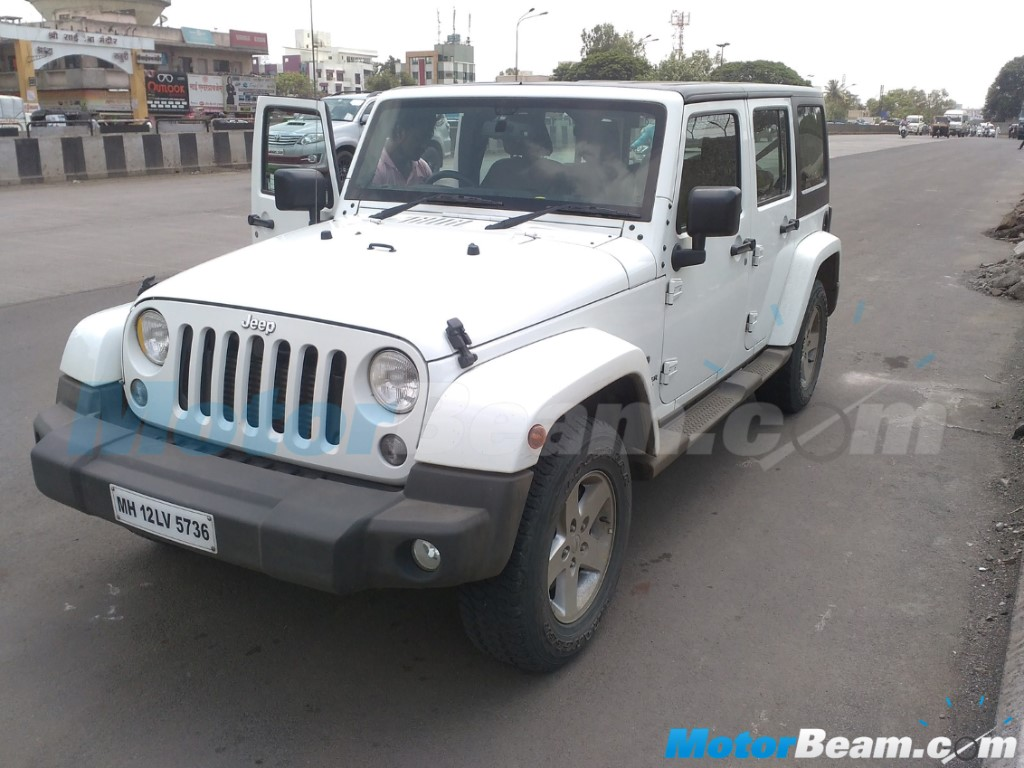 Jeep Wrangler Unlimited Spied India