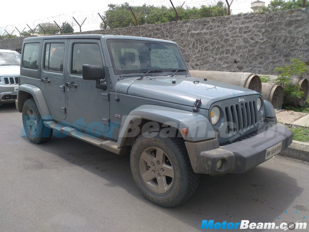 Jeep Wrangler Unlimited Spotted India