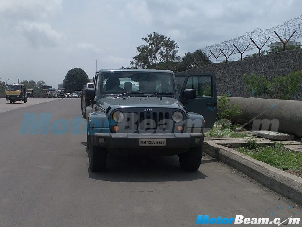 Jeep Wrangler Unlimited Testing India