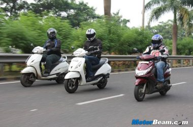 TVS Jupiter vs Honda Activa vs Yamaha Ray – Exclusive Shootout