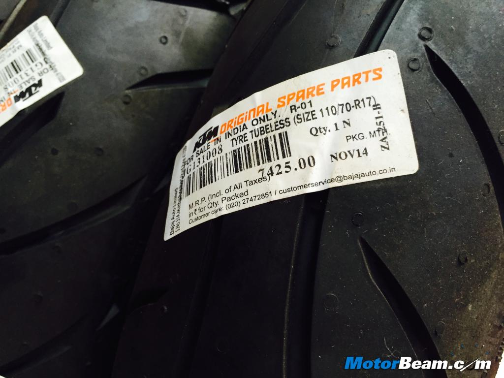 metzeler tyre set for ktm 390 priced at rs. 16,160/-