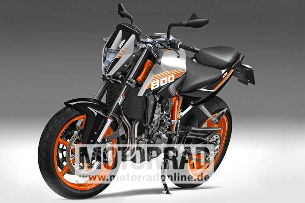 twin-cylinder ktm duke 800 spotted testing for the first time
