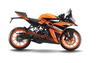 KTM RC125 Colour Scheme