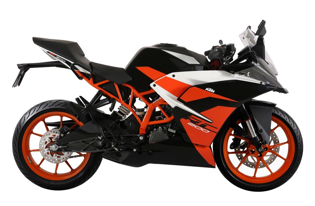 KTM RC 200 Black Side