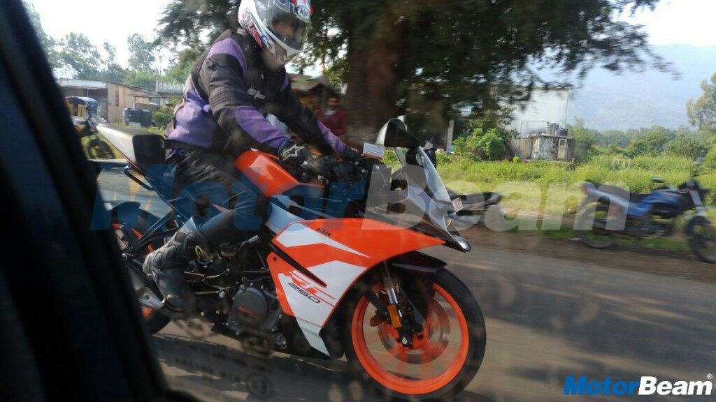 KTM RC 250 Spotted India