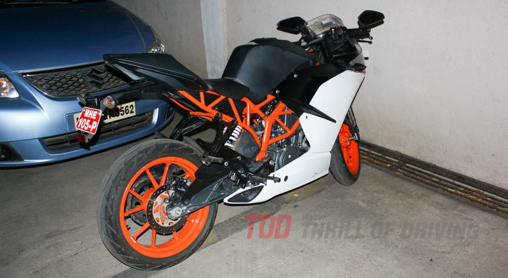 KTM RC 390 Spied Exhaust