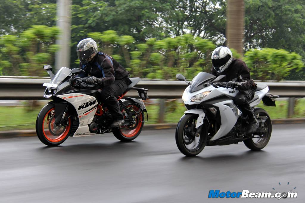 KTM RC 390 vs Kawasaki Ninja 300 Performance