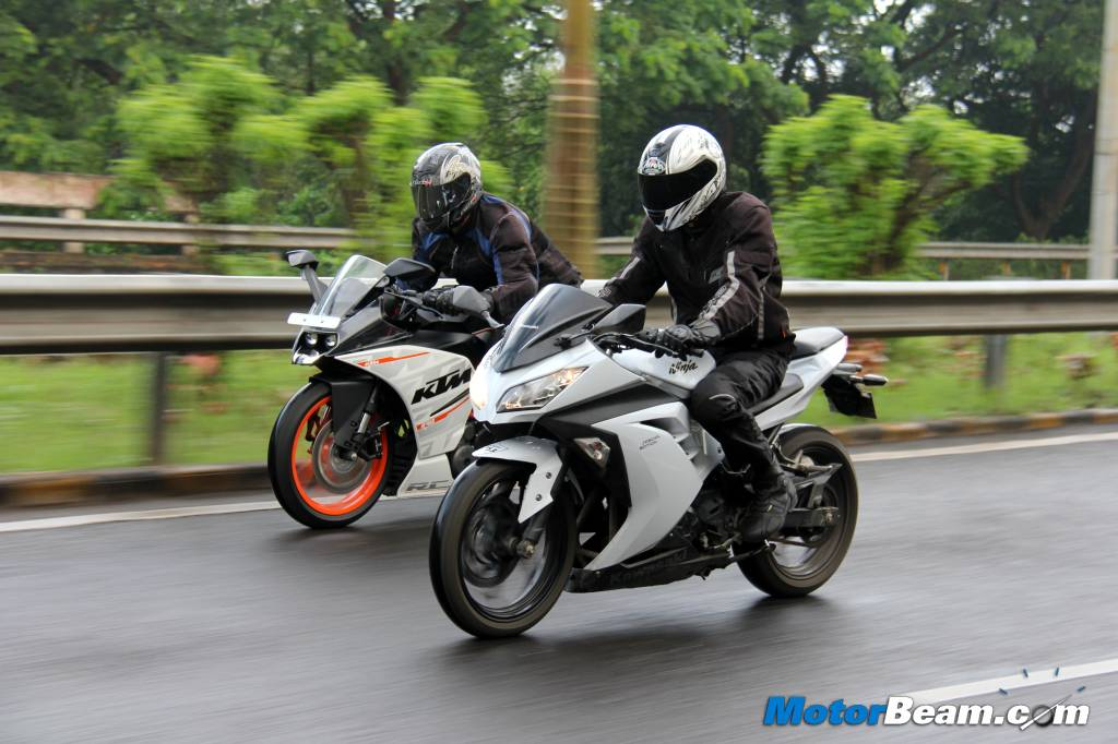 KTM RC 390 vs Kawasaki Ninja 300 Road Test