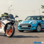 KTM RC 390 vs MINI Cooper Shootout
