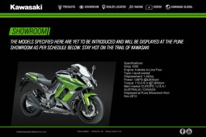 Kawasaki India Website