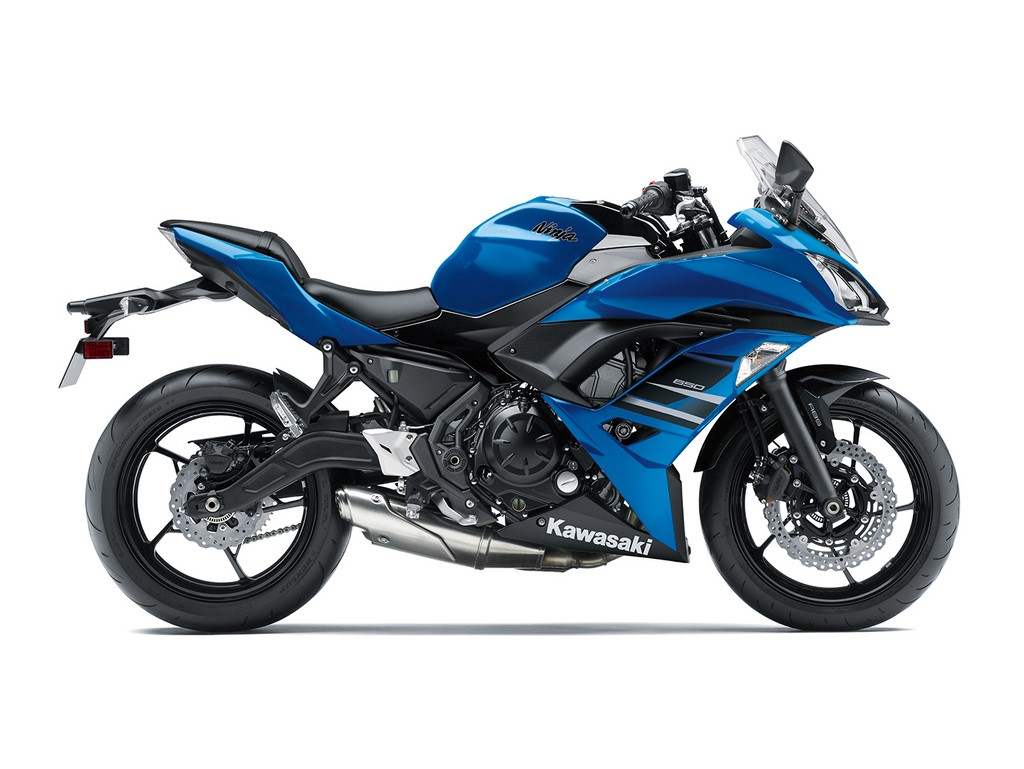 Kawasaki Ninja 650 Blue Side Profile