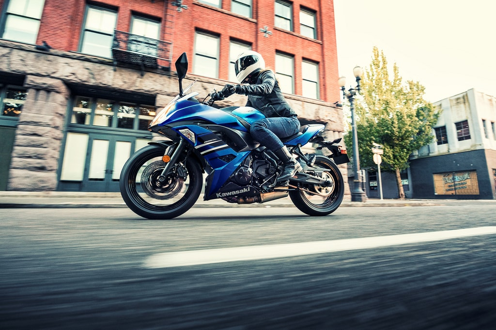 Kawasaki Ninja 650 Blue Wallpaper