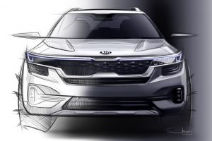 Kia SP Front Sketch