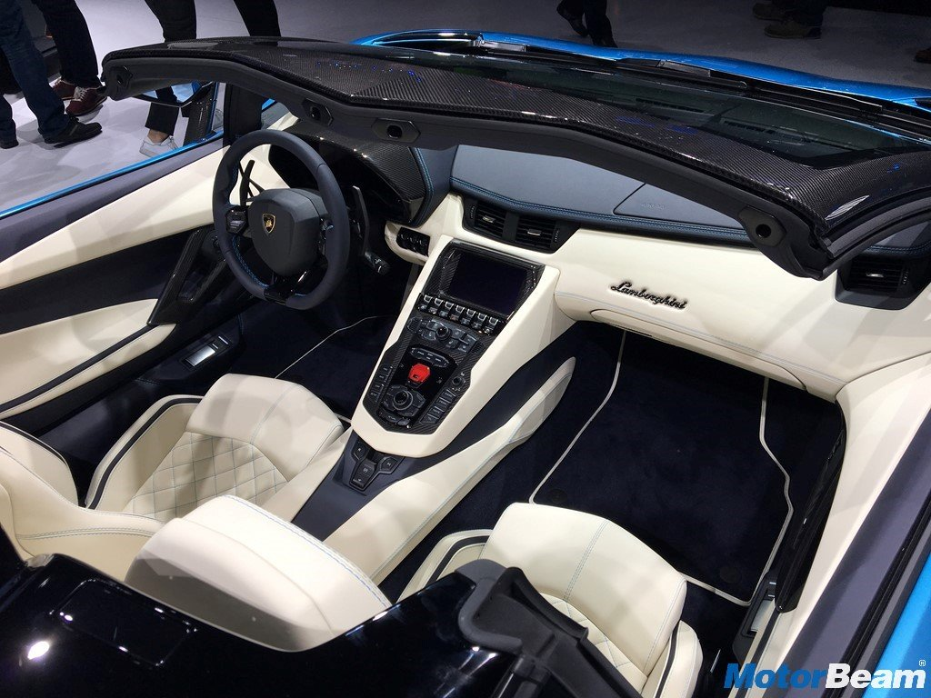 Lamborghini aventador s roadster launched priced at rs 5 for Interior lamborghini
