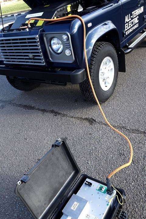 Land Rover Defender Electric charging