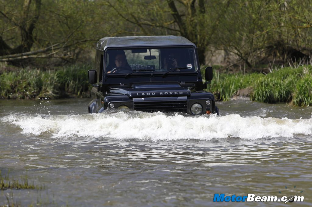 Land Rover Defender LXV Water Wading