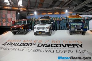 Land Rover expedition flag off