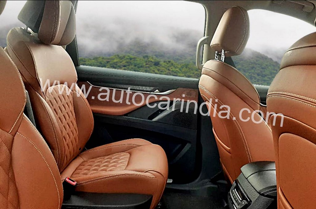 MG Gloster Interior Leaked Second Row Seats