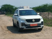 MG Hector Facelift Spied