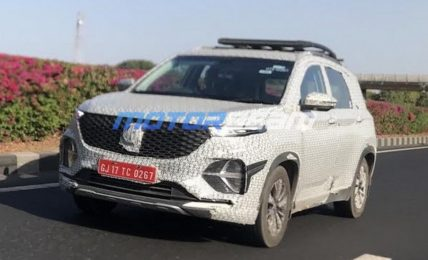 MG Hector Plus 7 Seater Spied