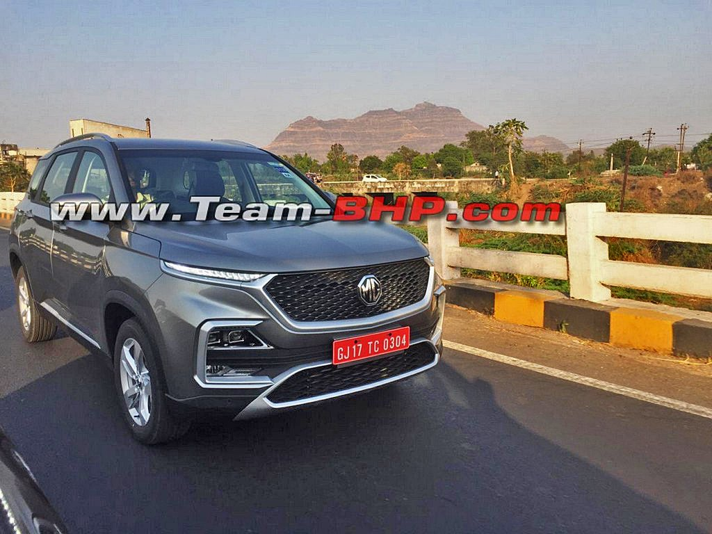 MG Hector SUV Spied