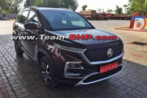 MG Hector SUV Undisguised
