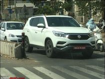 Mahindra Rexton Spotted In India