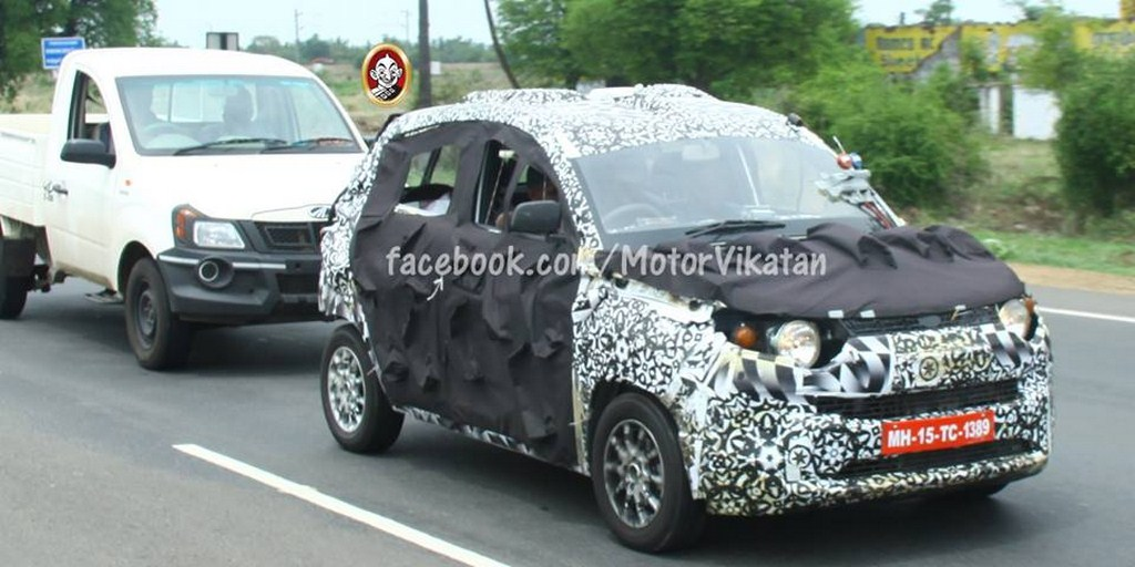 Mahindra S101 Towing Spied