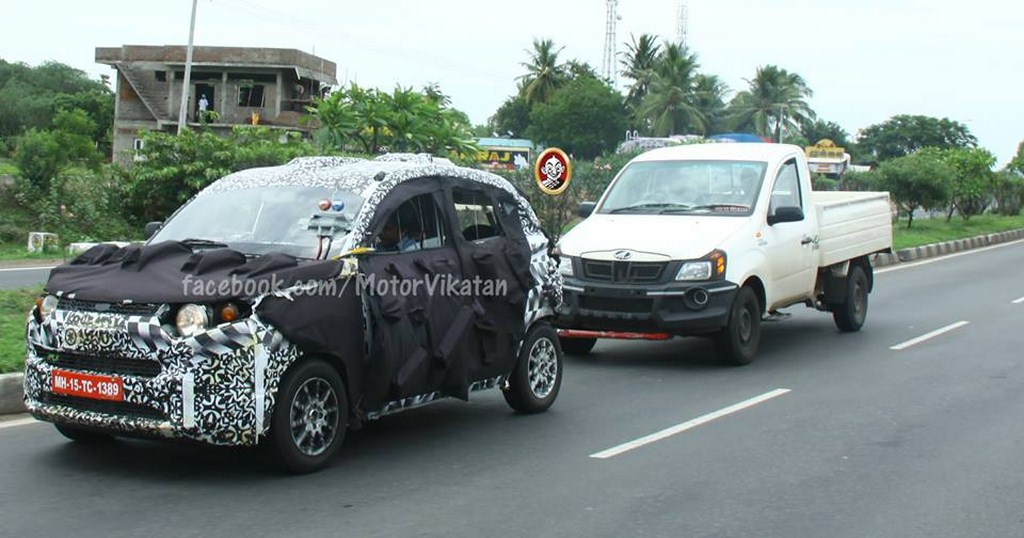 Mahindra S101 Towing Test FrontMahindra S101 Towing Test Front