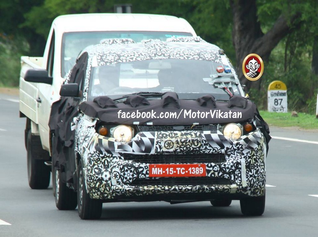 Mahindra S101 Towing Test Spied