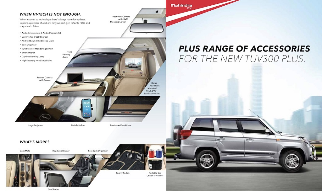 Mahindra TUV300 Plus Accessories List