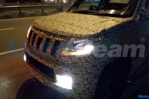 Mahindra TUV300 Plus Dashboard Spied In Images