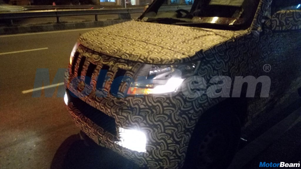 Mahindra TUV500 Front Spied