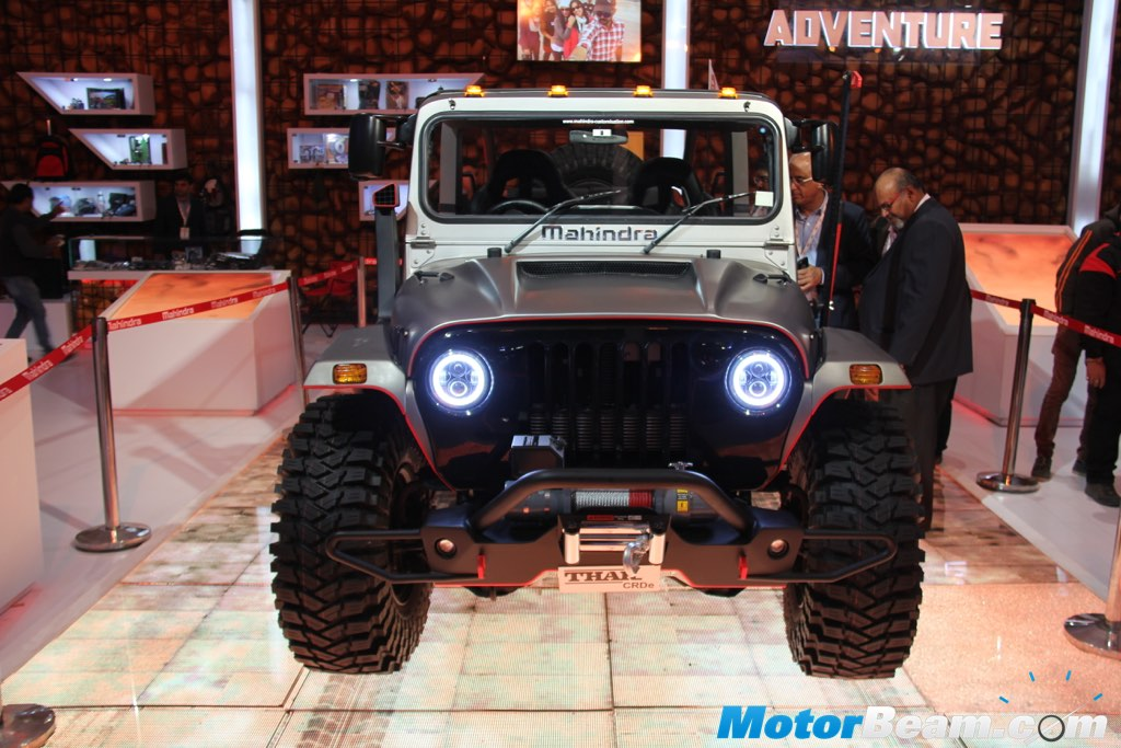Tricked Out Mahindra Thar Showcased At 2016 Auto Expo Live