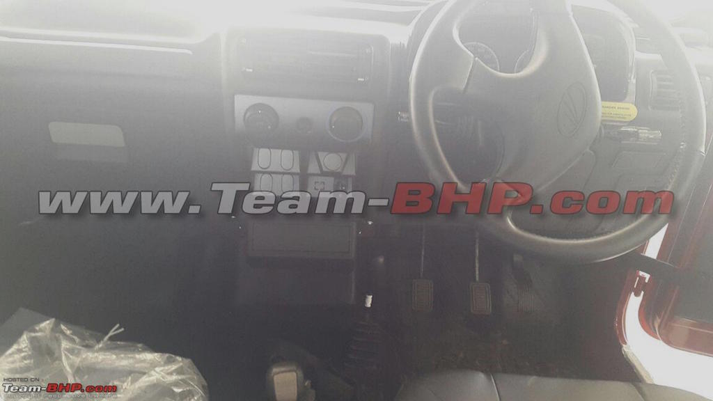 Is this the mahindra thar facelift spotted at dealership mahindra thar facelift dashboard altavistaventures Images