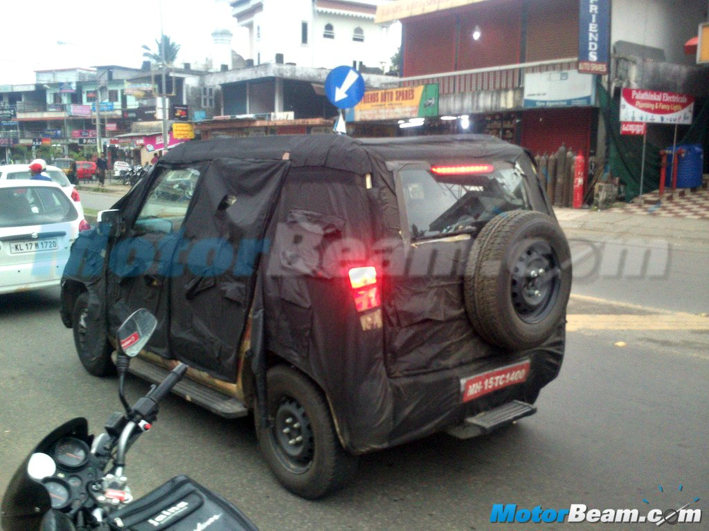 Mahindra U301 Spy Shot