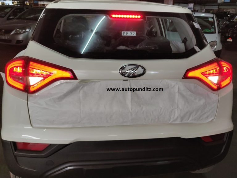 Mahindra XUV 300 Base Variant Rear Spied