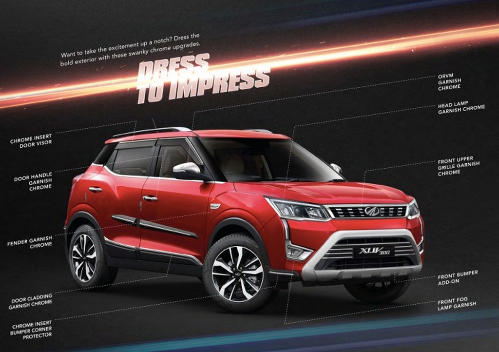 Mahindra Xuv300 Accessories Revealed Officially Motorbeam