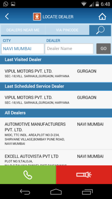 Maruti Care App Dealer